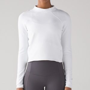 Lululemon hill and valley mock neck sz 6